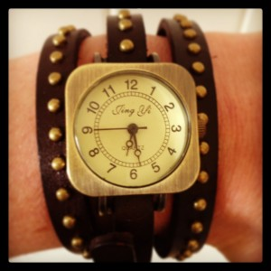 Leather wrap watch from Sam Saum