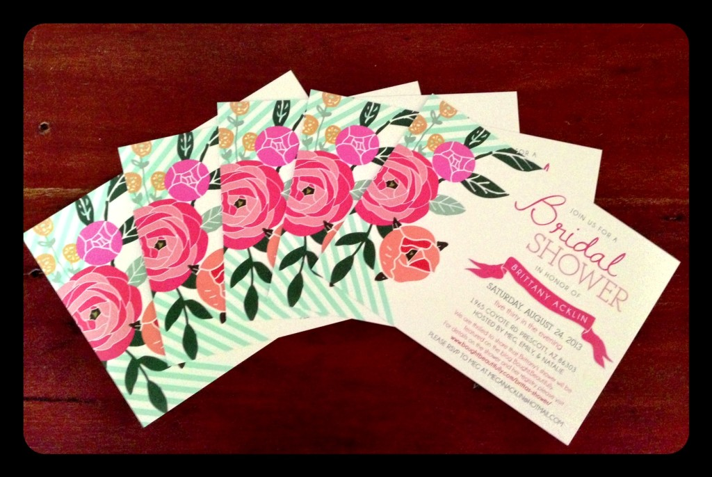 Eco-friendly bridal shower invitations